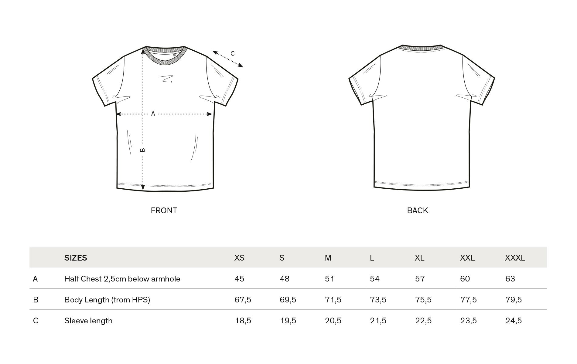 Shirt design measurements - Women Xs S M Measurements Price 25 Incl Vat